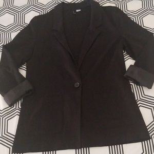 H&M Black Lightweight Cuffed Sleeve Blazer